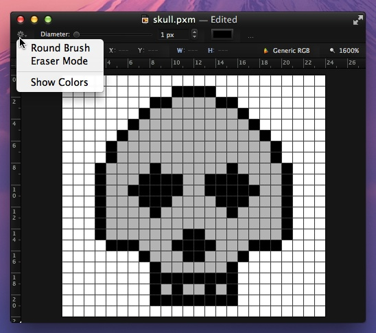 Pixelmator skull eraser 11