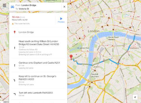 Googlemapsipad