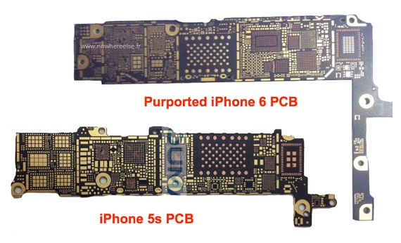 IPhone 6 vs iPhone 5s PCB