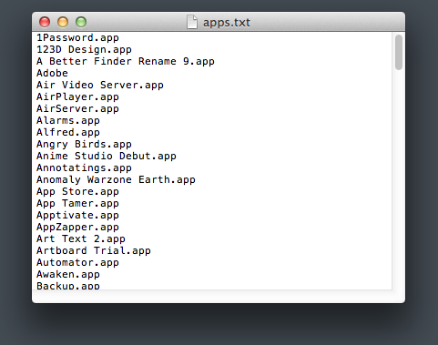 Apps list 1085 2