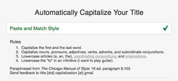 Cpitalize title
