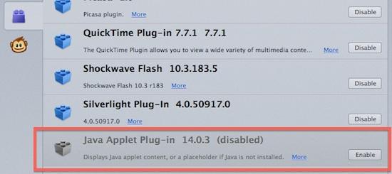Firefox java 12
