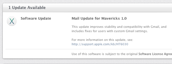 Mavericks mail 1