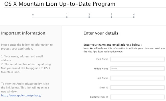 Mountain lion up to date form 1
