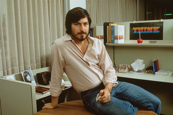 Stevejobs in his cubicle
